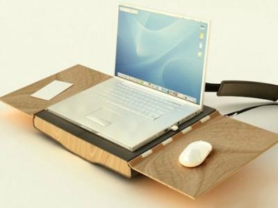 行動辦公桌椅不是夢,打開筆電包就有桌子和椅子可以用