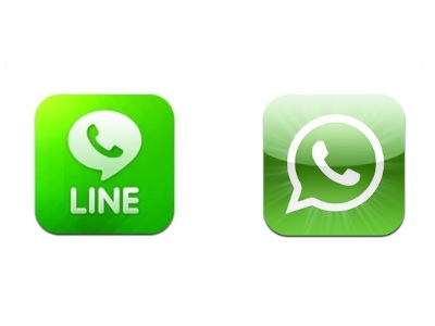LINE 和 Whatsapp,你愛哪一個?