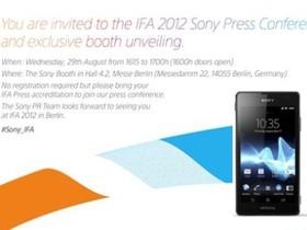 Sony 將在 8 月 29 日柏林 IFA 大會推出新 Xperia 智慧型手機!