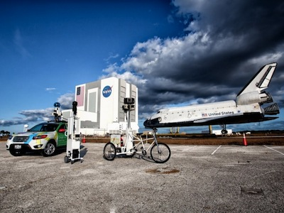 Google 街景帶你暢遊美國太空中心,超帥的火箭和太空梭就在眼前