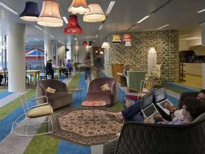 最新 Google 英國倫敦辦公室開張,這麼舒服的地方是用來上班的嗎?