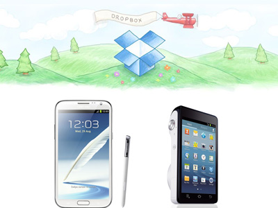 Samsung GALAXY Note 2 和 GALAXY Camera 使用者將獲得免費 Dropbox 50GB 空間