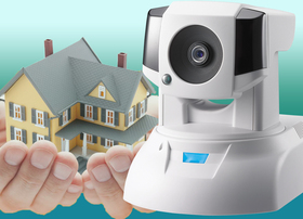 讓你出門時 放心的微笑,康博COMPRO CS530高C/P值旋轉式網路監控攝影機