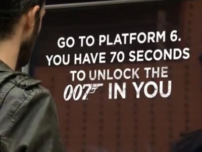 007 空降危機創意行銷,每個人在 70 秒內扮演詹姆士龐德解任務