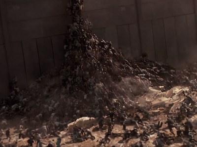 布萊德彼特《末日之戰》中文版預告出爐,海量殭屍玩疊疊樂攻城