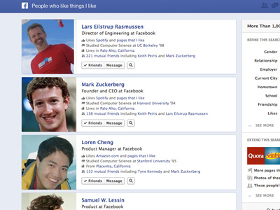 Facebook 推出社交圖表搜尋 Graph Search,搜尋人際網路上的大小事