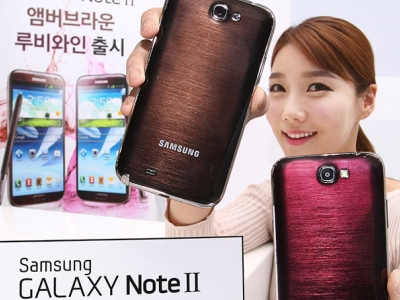 Samsung Galaxy Note2 新色現身,琥珀棕、葡萄酒紅都好看