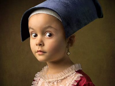又可愛又有古典風!名畫風格讓小朋友的照片大不同