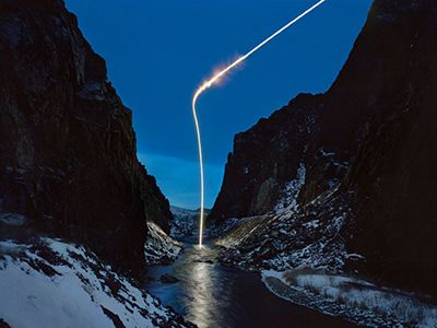 穿越天際的神秘光束,不用 PS,創意長曝影像大公開