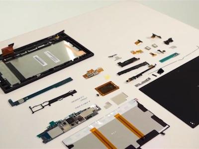 官方把 Sony Xperia Tablet Z 拆給大家看!台灣預計在第二季上市