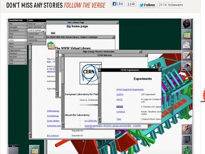 紀念 Web 20 周年, CERN還原歷史上第一個網頁
