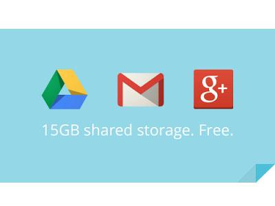Gmail 整合 Google Drive 雲端硬碟及 Google+ 相片 ,共享 15GB 免費空間