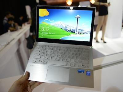 870 公克,Sony VAIO Pro 13/11 超輕觸控 Ultrabook 發表