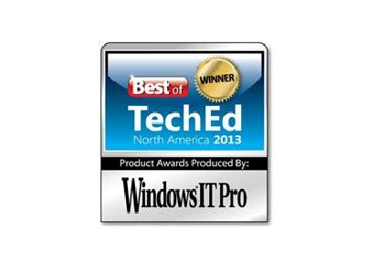 A10 Networks® 的Thunder (雷霆)系列榮獲Windows IT Pro雜誌頒發「Best of TechEd 2013大獎」