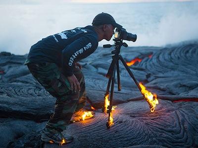 燃燒中硬是拍火山,真正用生命在拍照