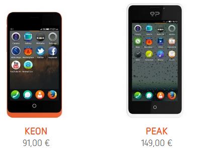 GeeksPhone 即將推出 Peak+,新的 Firefox OS 手機以及提供 25GB 的雲端空間