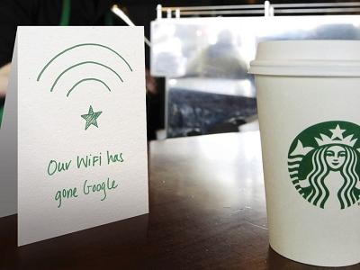 美國星巴克改用 Google 提供的免費 WiFi 高速網路 ,上網速度比現在快10倍