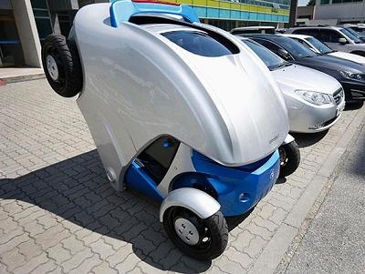 南韓研發摺疊電動車,輕鬆停車不卡卡