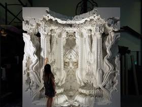 第一個 3D 列印出來的房間 Digital Grotesque,充滿了《異形》系列的風格