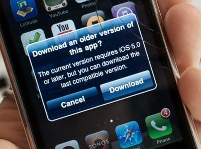 老 iPhone 使用者的福音! Apple 支援舊設備下載可以使用的舊版本app