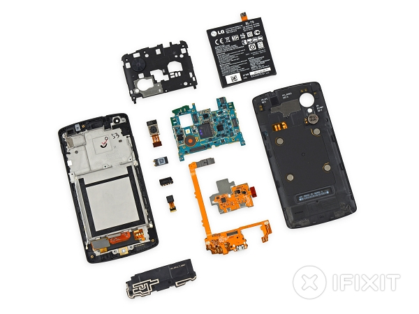 Nexus 5 拆解:除了螢幕外,好拆也好修