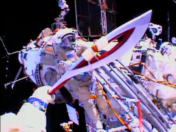 奧運火炬飛向太空,首次進行太空漫遊