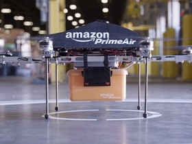 Amazon Prime Air 無人機配送服務,30 分鐘內送達,2015 年上線運作