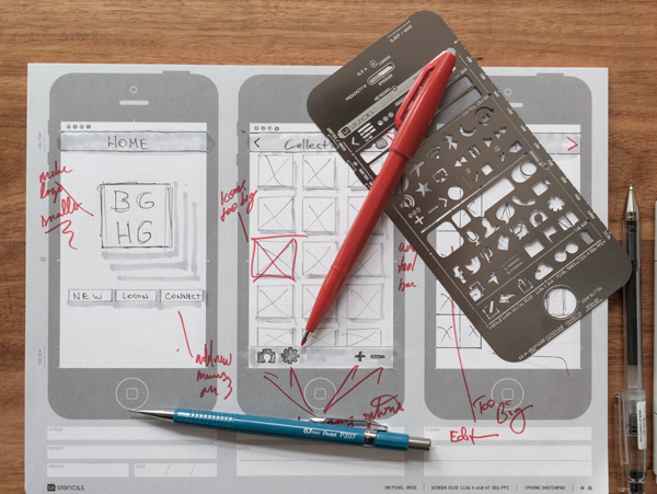 iOS、Android 原型介面設計工具:在你的筆記本上,還附有像素比例尺 | T客邦