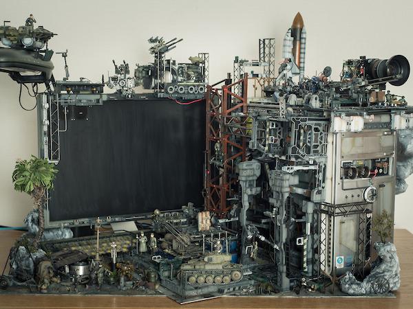 超擬真!神級作品,軍事模型組成的電腦