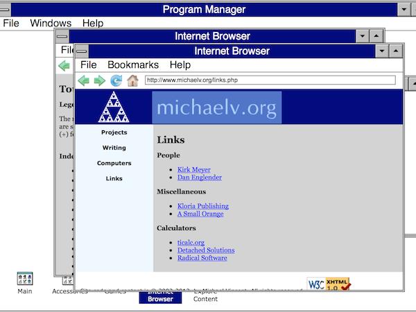 用瀏覽器回味那些經典 Windows 與 Mac OS