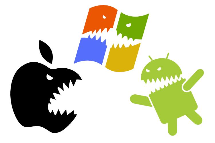 iOS 和 Android 在 2013 年攻占全球 93.8% 智慧型手機市場,三星為最大贏家