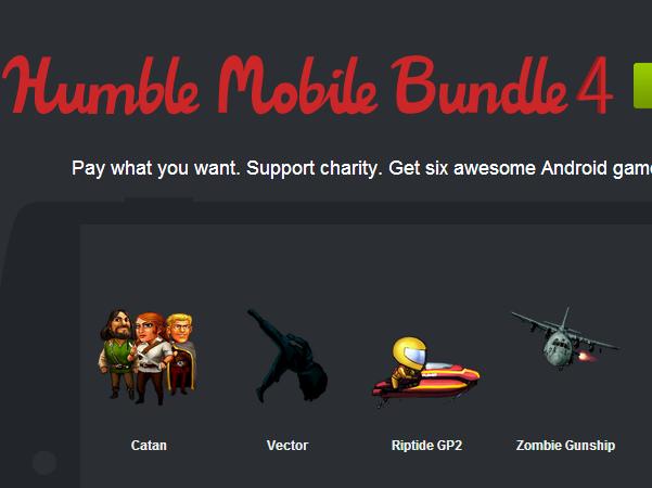 五折以下!用超便宜價格買 Android 手機遊戲,HumbleBundle 第四號登場