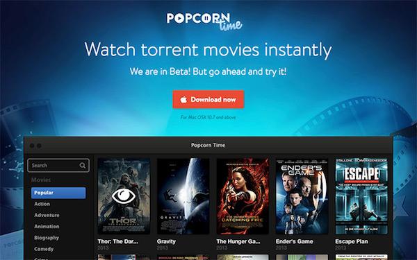 Popcorn Time:基於 BitTorrent 的免費串流影音服務,可能成為新舊媒體的新對手