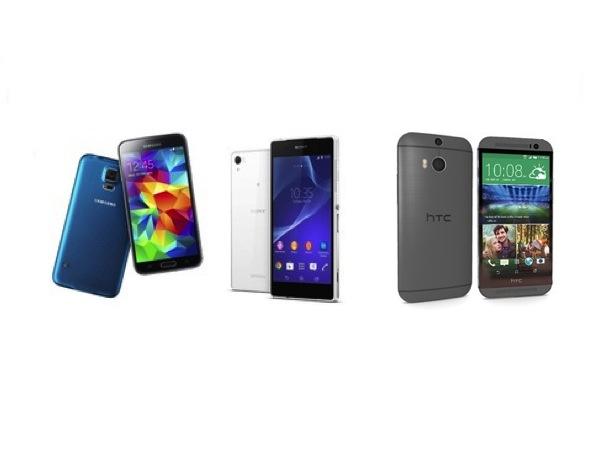 Galaxy S5 與 Xperia Z2 機王戰,HTC One M8 也參戰
