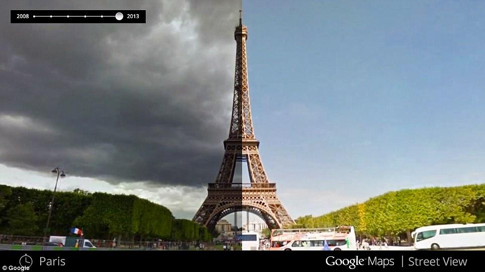 Google Maps 街景地圖推出「時光機器」,回顧 7 年間的景物變化