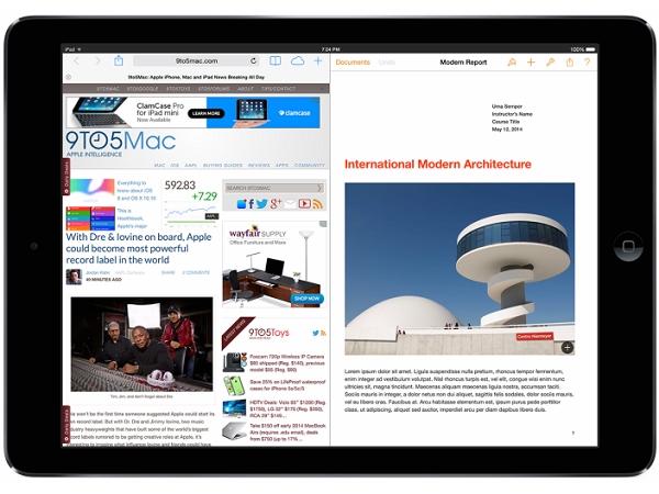 iPad 將會擁有分割畫面的功能?