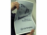 LG研發出目前最大的19吋可彎曲電子紙