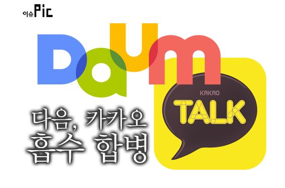 韓國第二大入口網站 Daum 與即時通訊廠商 Kakao 合併為 Daum Kakao,市值高達新台幣 900 億