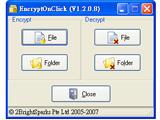 不經壓縮就能幫資料夾加密:EncryptOnClick
