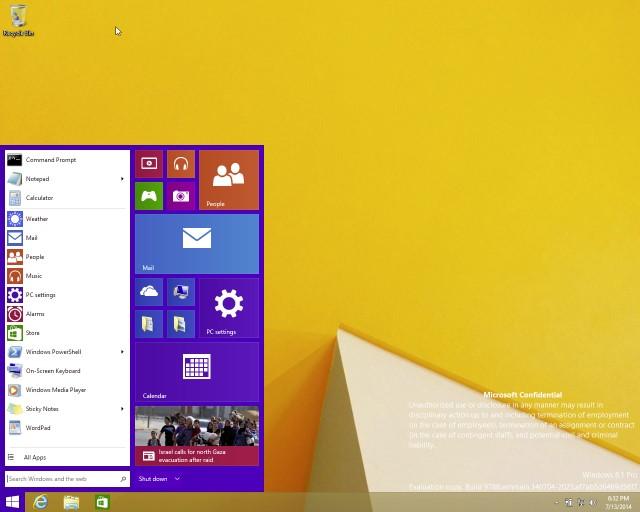 Windows 8.1的新「開始」可能要等到2015年