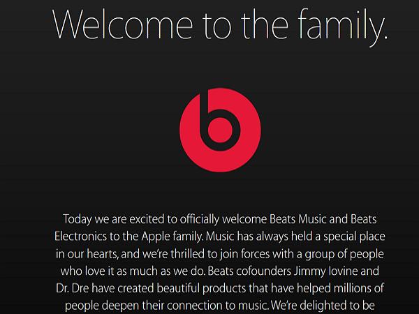 蘋果在官網正式歡迎Beats加入大家庭