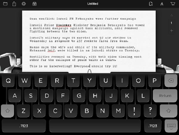 湯姆漢克斯冠名推出!iPad 版打字機 Hanx Writer