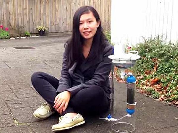 17歲那年,她發明了一個產生能量的濾水器