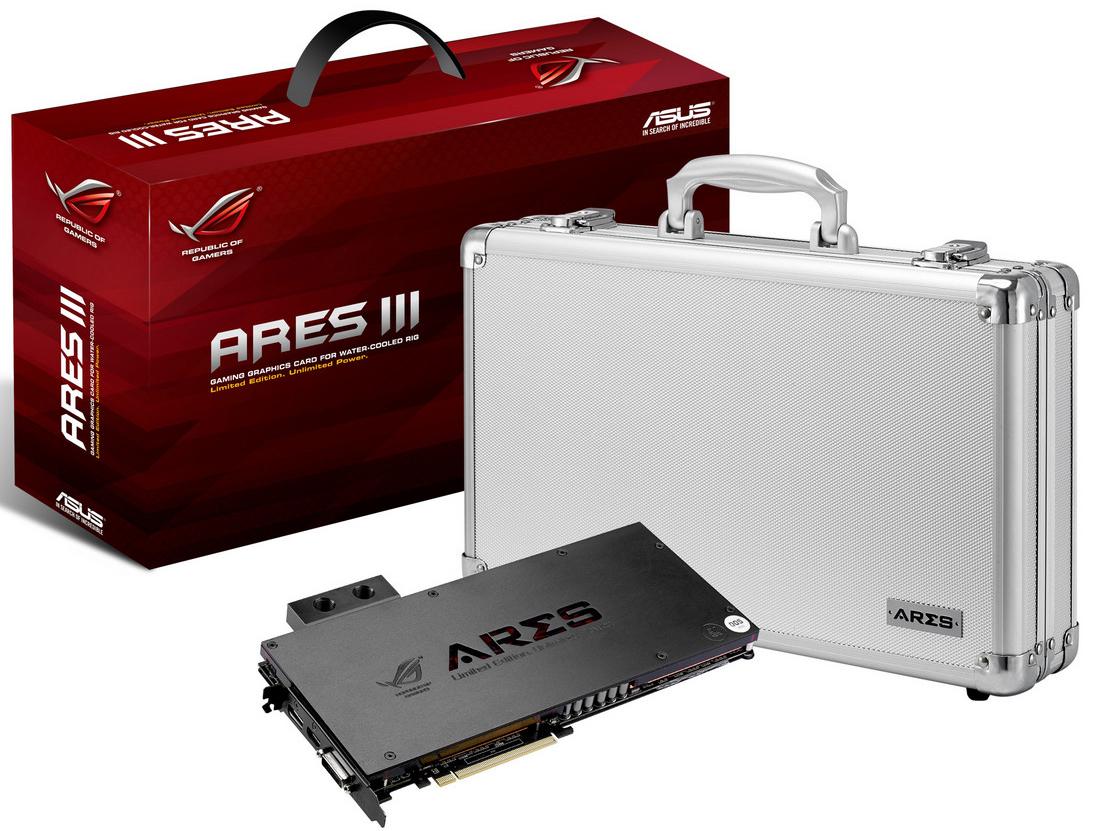 華碩 ARES III 首款純水冷顯示卡正式定案,與 EKWB 攜手合作