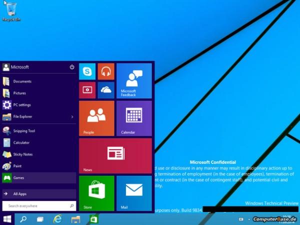 真‧開始畫面回歸,Windows 9 流出 20 張截圖及影片