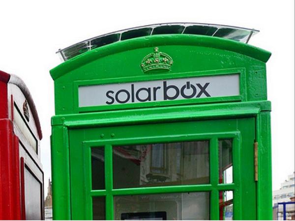 倫敦把廢棄電話亭改造為太陽能手機充電站