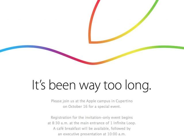 蘋果新品發表會 10/16 登場,iPad Air 2、OS X Yosemite 終於來了?