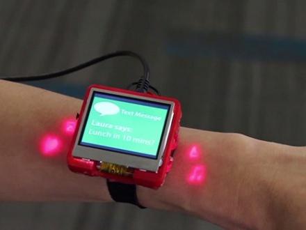 這隻智慧手錶用你的皮膚來取代觸控螢幕