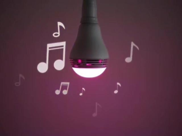 不但會變色,還會唱歌的智慧型燈泡