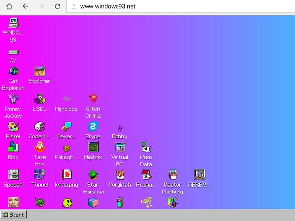 有開始工作列、檔案總管,用手機瀏覽器就能玩「Windows 93 」 | T客邦